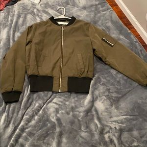 Young and Bishop Olive Green Bomber Jacket